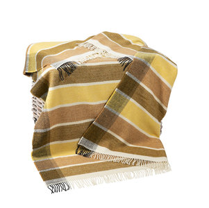 Cashmere Plaid Geel Roest Mosterd Streep
